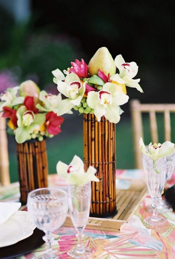 The 25 Best Tropical Centerpieces Ideas On Pinterest Luau Wedding Hawaiian Centerpieces And