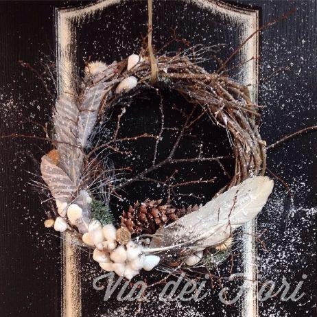 Скандинавский зимний венок — Via dei Fiori