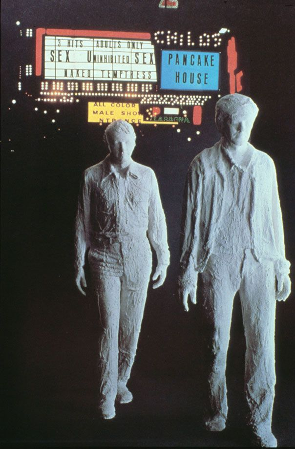 Times Square at night (1970) George Segal