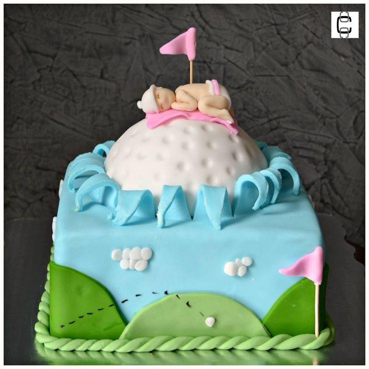 BABY SHOWER CAKE IDEAS / BABY SHOWER CAKE FOR GIRL / GOLF BABY SHOWER CAKE FOR GIRL/ PASTEL DE BABY SHOWER DE FONDANT PARA NIÑA DE GOLF