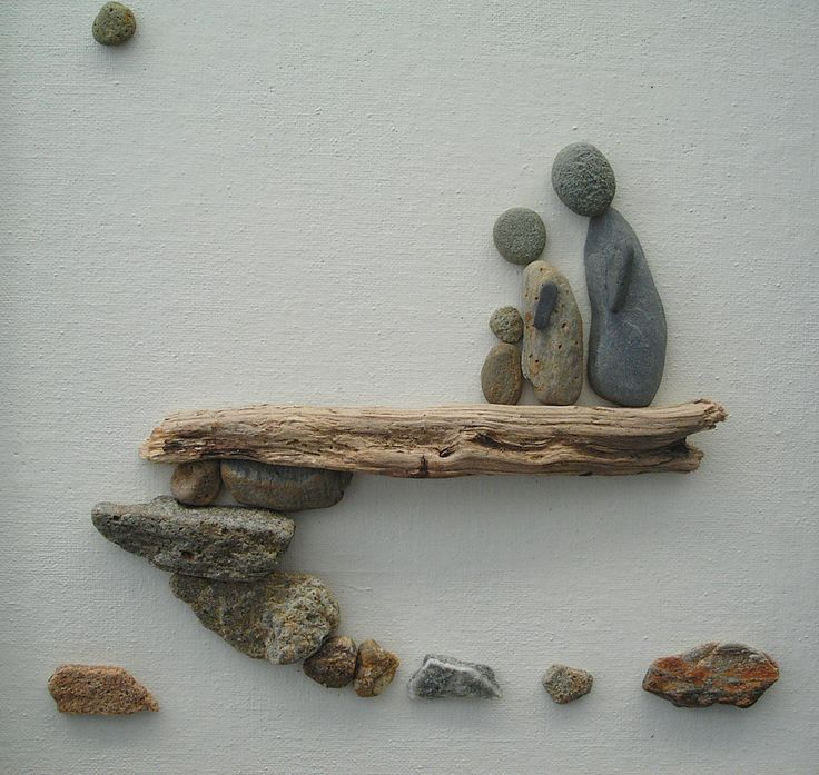 rocks and twigs on canvas - Google Search