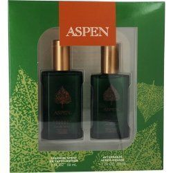 Coty Aspen 2 Piece Gift Set for Men by Coty. Save 7 Off!. $21.00. Aspen By Coty SET-COLOGNE SPRAY 2 OZ & AFTERSHAVE 1.7 OZ. Launched by the design house of Coty in 1989, ASPEN by Coty for Men posesses a blend of: outdoorsy scents including woods, citrus and spices. It is recommended for daytime wear.