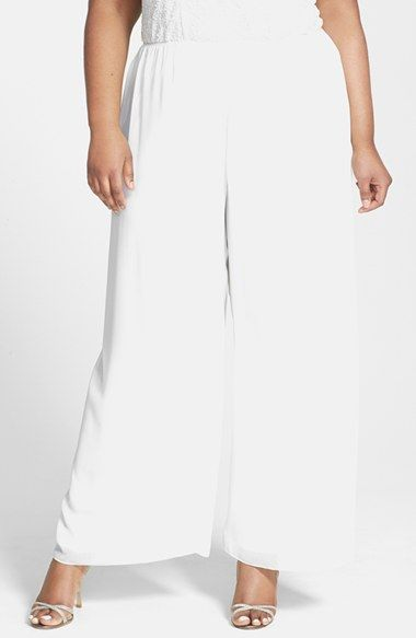 Alex Evenings Chiffon Pants (Plus Size) available at #Nordstrom