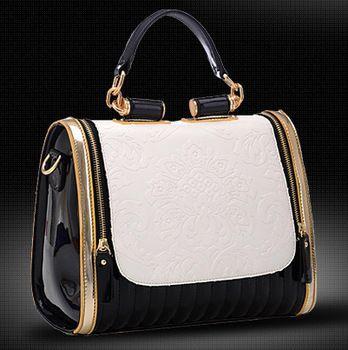 2015  new fashion women's leather messenger bags designer handbags briefcase double zipper bolsas de marca bolsos mujer marcas