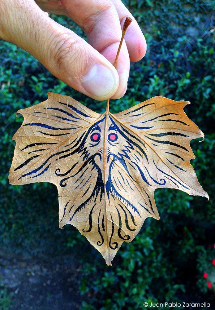 Prophet. Ink on dry leaf