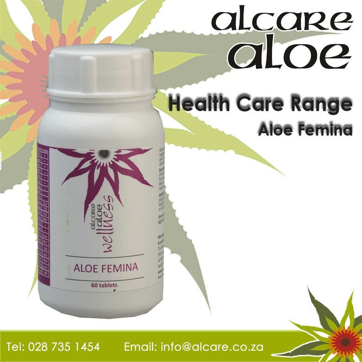 Aloe Femina.  Alcare Aloe Femina is a nutritional supplement for all women, rich in Magnesium and Calcium. The combination of ingredients in this tablet helps to treat a variety of gynecological symptoms including relief from the symptoms of menopause such us hot flushes, nervous tension due to pre-menstrual syndrome and menstrual cramps. Helps to relieve pain. Increases oxygen levels and improves your immunity. Order online: http://on.fb.me/1fJVdeb #health #aloe #femine