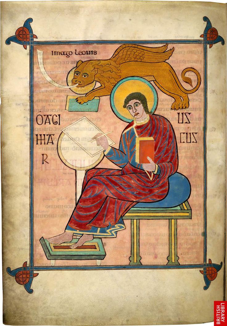 the lindesfarne gospels | Lindisfarne Gospels - St Mark f ...