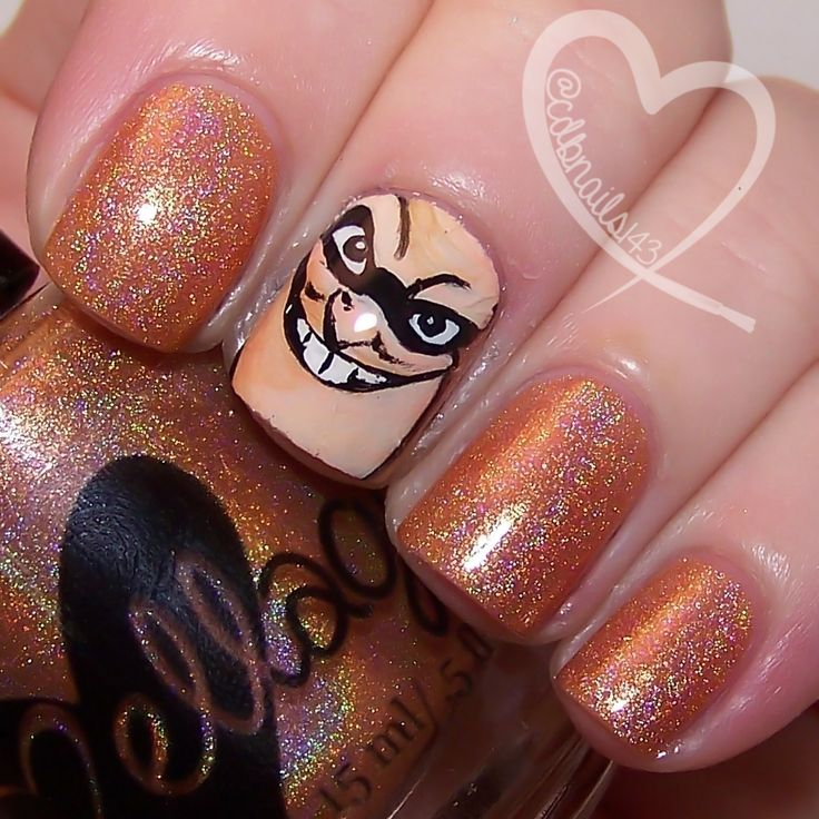 When Everyone's Super... by ellagee.com with nail art by cdbnails.