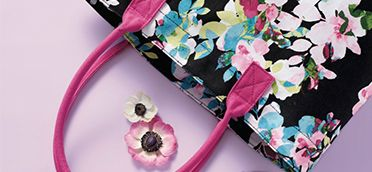 Add a floral pop to any wardrobe with the Full Bloom Canvas Tote Bag! #AvonRep