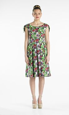 The Chihuahua Dress... in a bright coloured print, just like a cheeky chihuahua with dog ear sleeves (lined in soft chamois-like fabric) in an easy wear cotton spandex, box pleats and crescent side pockets... a must-have summer dress for all your lifestyle activities!