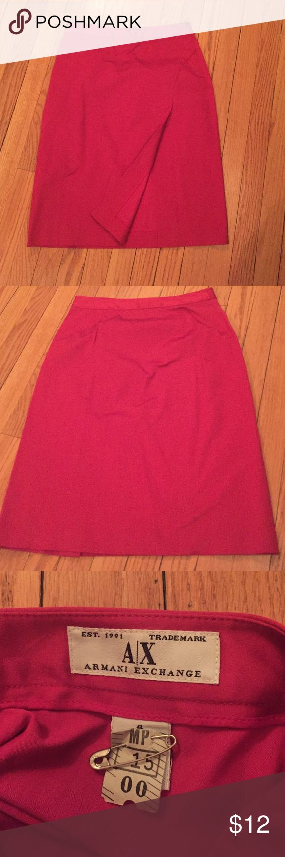 Armani exchange skirt Red, mint condition, side zip Armani Exchange Skirts