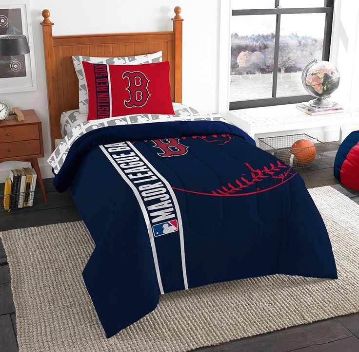 Boston Red Sox MLB Twin Comforter Bed in a Bag Soft & Cozy 64in x 86in