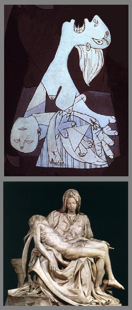 RÉFÉRENCES ET SYMBOLES DANS GUERNICA. Le motif du taureau et notamment du Minotaure d'une part et de la corrida d'autre part, est très importante dans la carrière de Picasso. Dans Guernica, il devient une figure assez ambiguë, symbole de la bestialité et de la cruauté pour les uns, symbole de la force et de la résistance pour les autres.