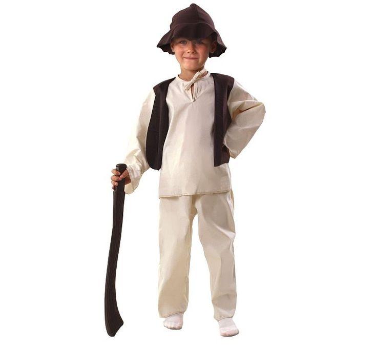 Strój Pastuszka na Jasełka. Bardzo praktyczny i wygodny strój dla chłopca na przedstawienia jasełkowe w przedszkolach i szkołach.