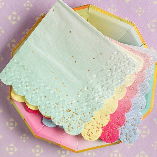 Pass out these gorgeous toot sweet ombre napkins at an upcoming birthday party for a stylish detail guests will notice.