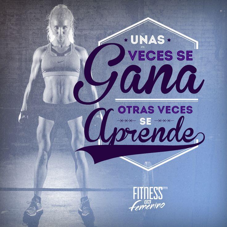 Unas veces se gana, otras veces se aprende. Fitness en femenino.