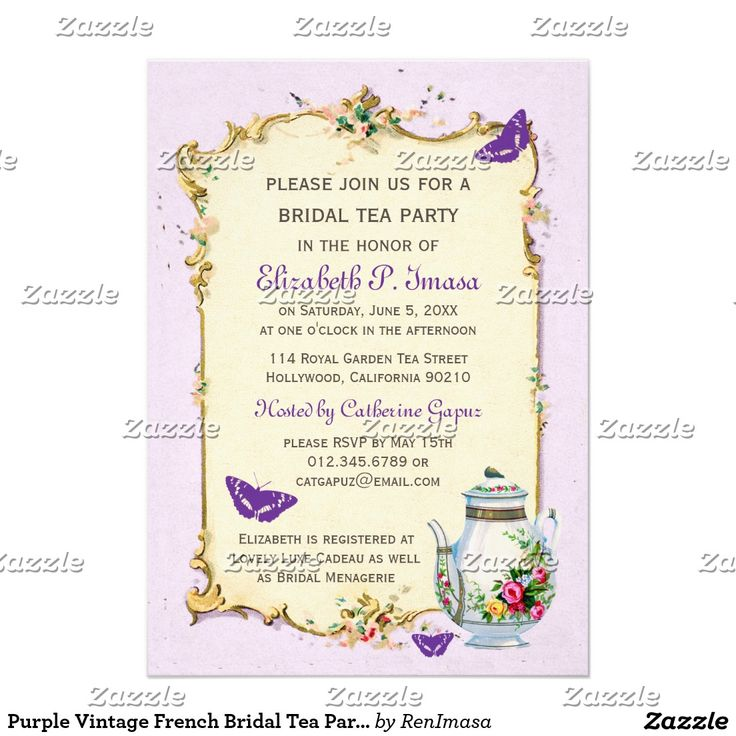 229 best WEDDING BRIDAL SHOWER TEA PARTY Invitations images on