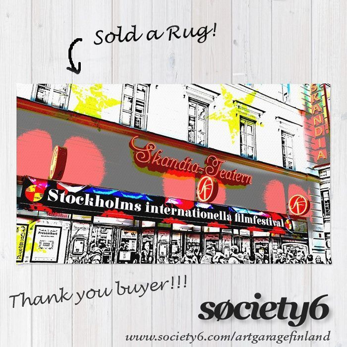 Sold!!! ..big thanks to the buyer of this 'Stockholm Filmfest' rug design from my Society6 webshop. Link in my bio.   #artofig #artistsofinstagram #rugs #floor #homedecor #sverige #sweden #mat #furnishings #artist #art #taide #konst #giftideas #swedish #shareyoursociety6 #style #homestyle #instarug #scandinavian #graphic #sold #thankyou #popart #filmfest #instaart #instalike #stockholm #filmfestivals