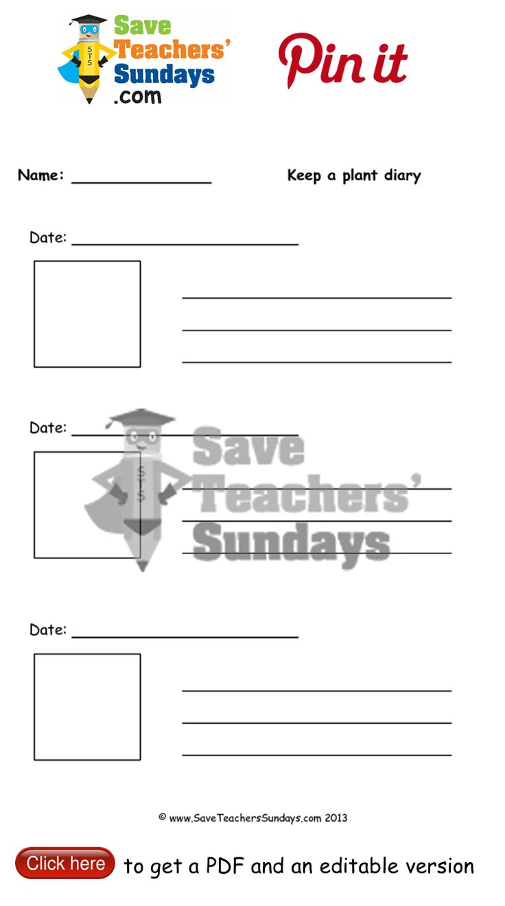 Ongoing - Plant diary worksheet. Go to (url) to download this Ongoing - Plant diary worksheet. #SaveTeachersSundaysUK