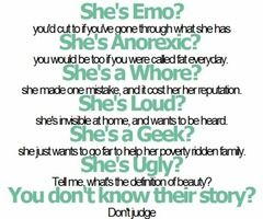 dont judge what you dont know