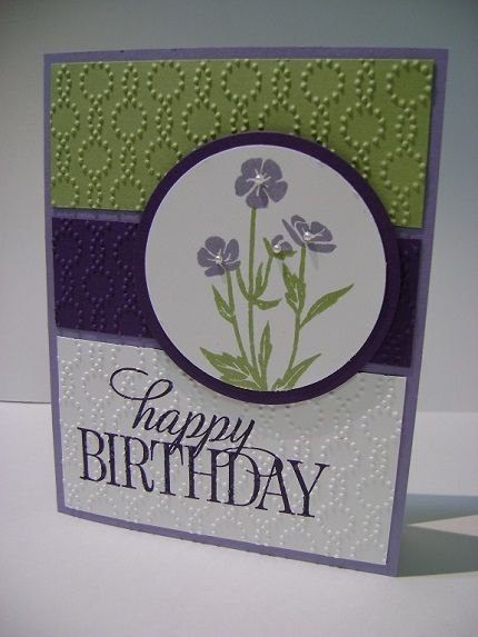 Wild About Flowers stamp set, Happy Birthday Everyone stamp set, Elegant Dots embossing folder