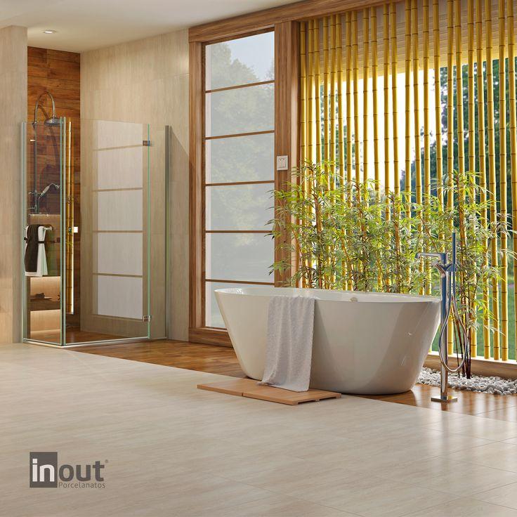 Nosso PHD49130R é inspirado nas diferentes nuances do mármore travertino. Uma peça durável, de fácil aplicação e estética impecável. #InOutPorcelanatos #Lançamentos  www.inoutporcelanatos.com.br
