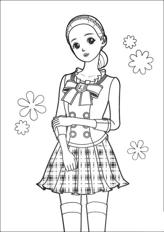 시크릿쥬쥬 색칠공부 프린트 도안 네이버 블로그 색칠공부