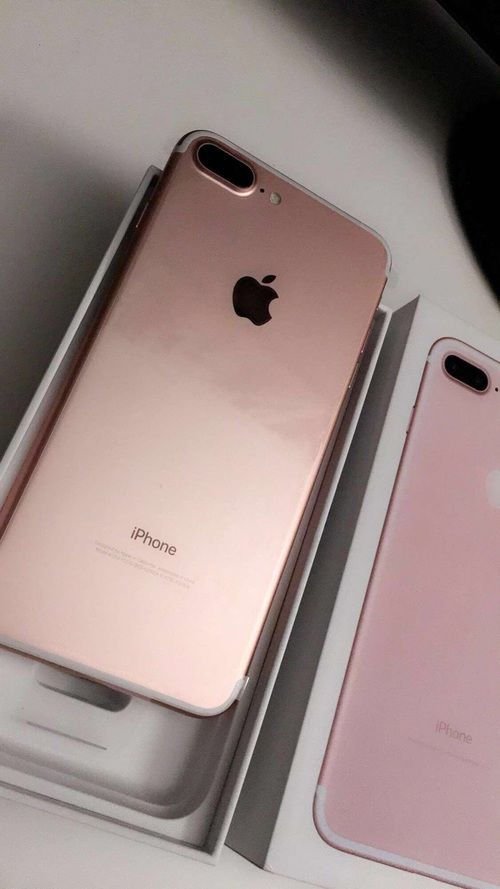 rose gold and iphone 7plus image