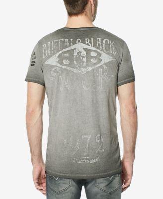 Buffalo David Bitton Men's Tutor Graphic-Print T-Shirt - Gray XXL