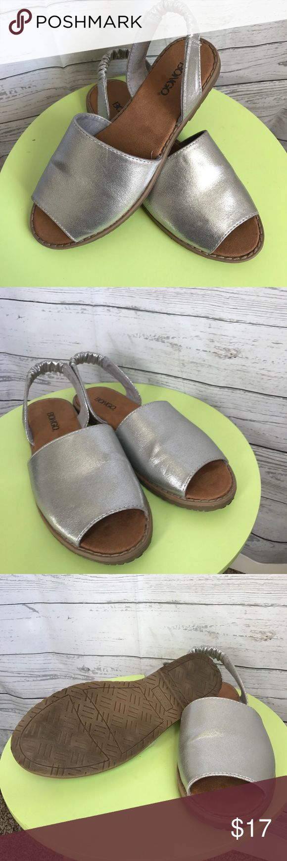 Bongo Slingback Sandals Silver Bongo slingback Sandals in great condition. BONGO Shoes Sandals