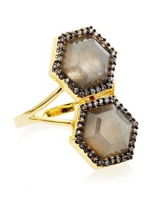 Melani Auld Labradorite Double Hex Ring