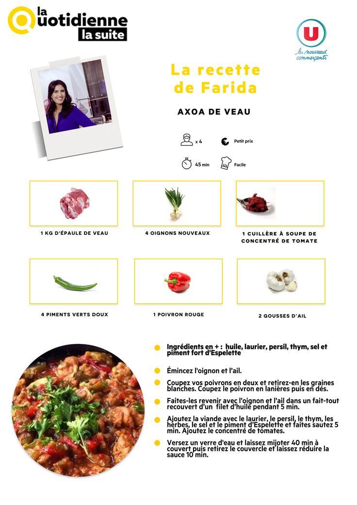 Retrouvez la recette de Farida : Axoa de veau