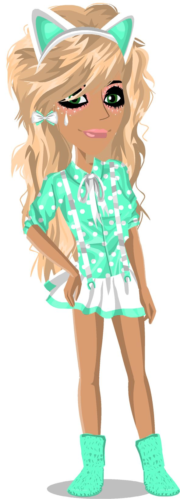 Le look msp turquoise coquet!