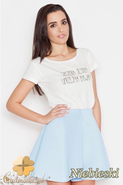 Rozkloszowana spódniczka mini marki Katrus.  #cudmoda #moda #ubrania #odzież #spódniczki #clothes #rocke