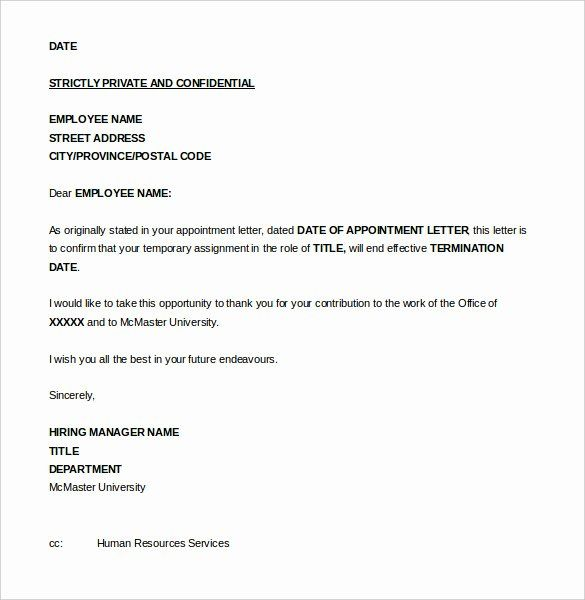 30 Employment Termination Form Template In 2020 Letter Format