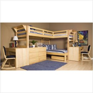 Kids Bunk Beds: Triple Bunk Beds - University Loft Triple Lindy        I need a bunk bed like this for free please help me