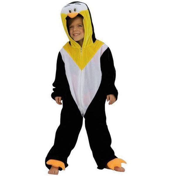 Pinguin kostuum voor kinderen. Pinguin overall inclusief capuchon.