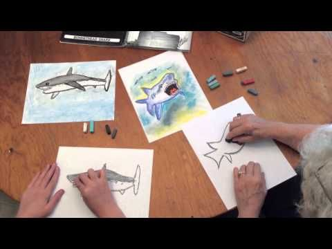 It's Shark Awareness Day! Enjoy our video art tutorial: How to Draw a Shark with Chalk Pastels