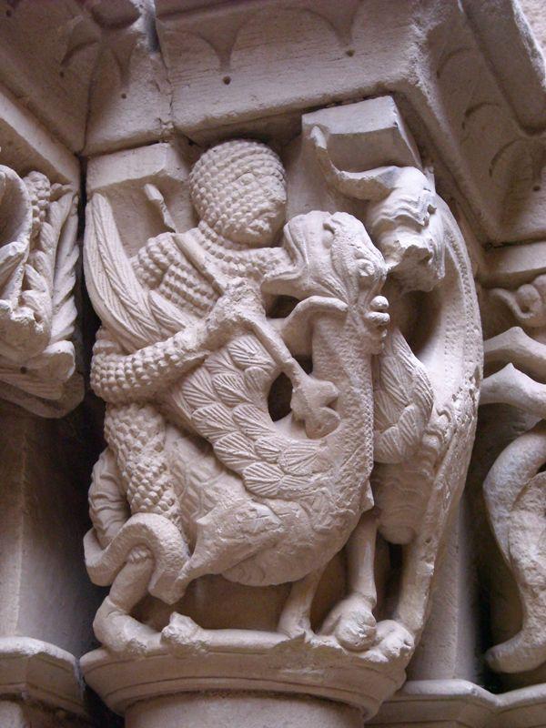 Romanesque sculpture. San Cornelio y San Cipriano, Revilla de Santullán, Palencia