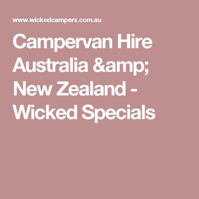 Campervan Hire Australia & New Zealand - Wicked Specials