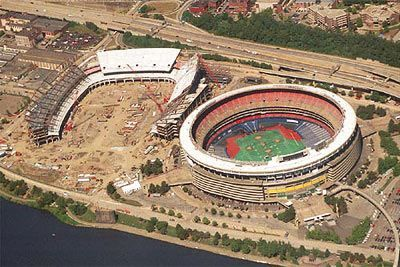 Three Rivers Stadium and Heinz Field #Steelers