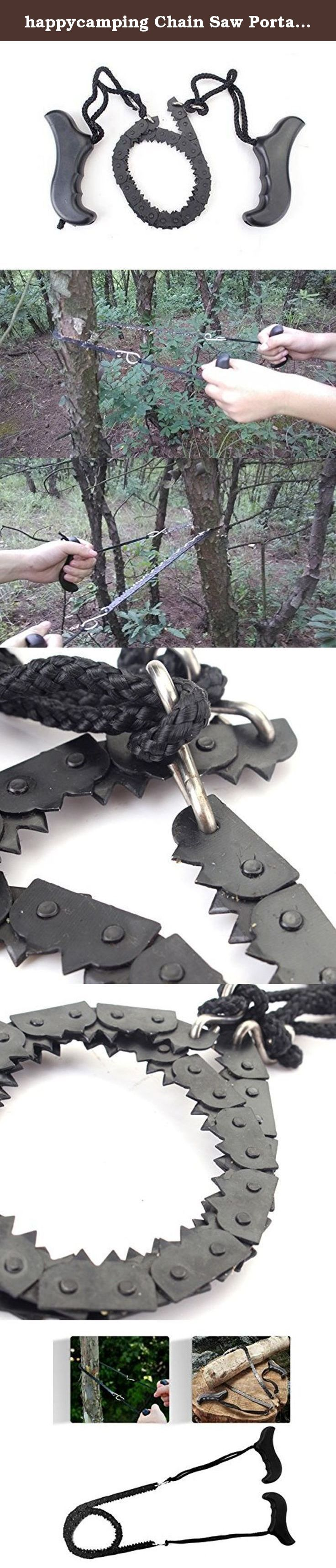 happycamping Chain Saw Portable Folding Pocket Survival Hand Chain Pocket Chain Saw Tool - 39.7 Inches Long. happycamping Folding Pocket Chainsaw with 39 inch long, perfect Compact Pocket Survival chainsaw For all -Cuts wood faster than a conventional saw. - Easy to re sharpen even after years of use. - Perfect length for for your arms pull. - Great for survival hunting and much more. - Easy to carry in a back pack or pocket. FEATURES Item: Pocket Chain saw Size: 39 inch long((including...