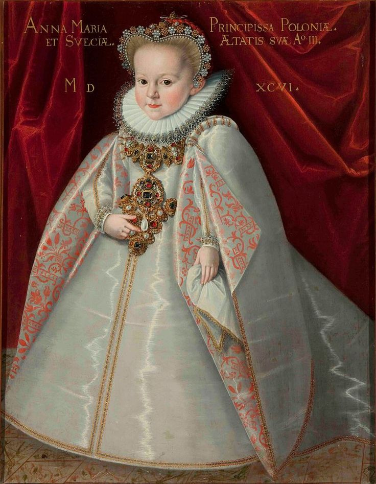 1596 Martin Kober - Portrait of Crown Princess Anna Maria Vasa