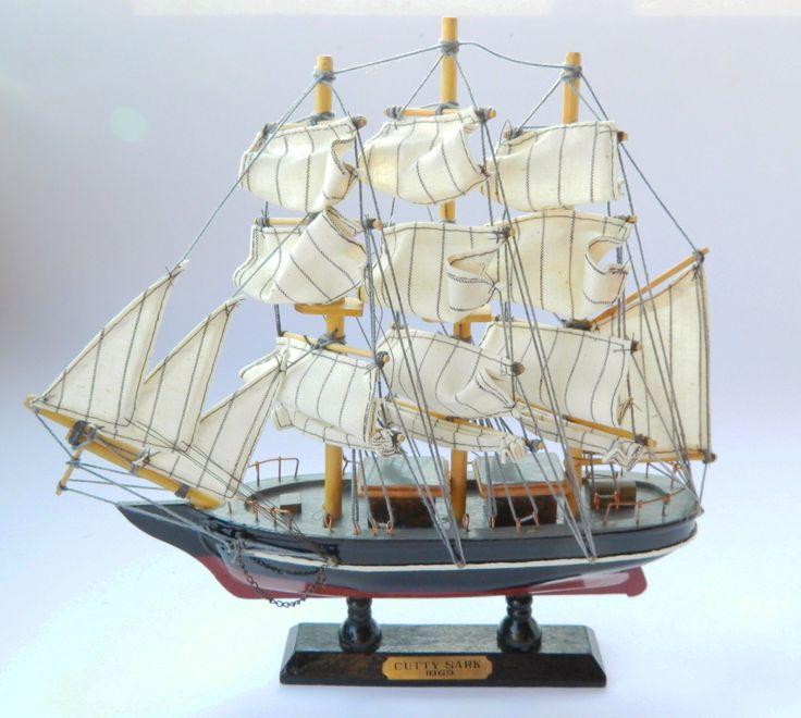 Vintage Wooden Model Ship / Cutty Sark Model / Historic Ship Model/Old ship/Handcrafted Ship model/ Decrotive boat/Boat model/Sailing ship by RetroBackyardSales on Etsy