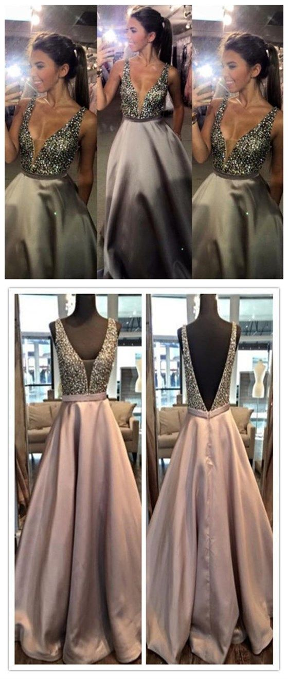 Charming Prom Dress,V-Neck Prom Dre