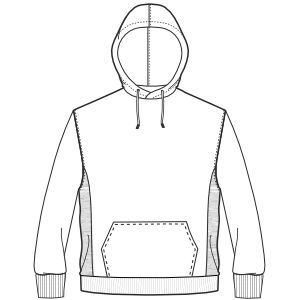 Sweatshirt  hoody sewing pattern by Patronesymoldes.com