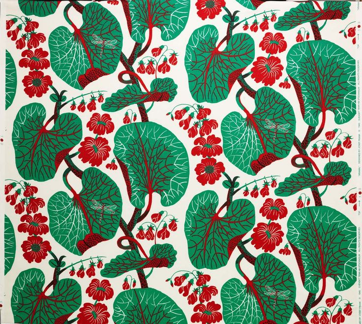 "Textiles: Josef Frank, architect and designer born in Austria in 1885, later adopted Swedish citizenship and became one of the best-known Scandinavian designers of that time: ""Josef Frank's life could be wonderfully characterized as on always in motion. Moving with ease from architecture and furniture design to glassware, lighting and metalwork–his was an eclecticism fueled by curiosity. and nothing captures this roaming imagination better than his textiles…"""