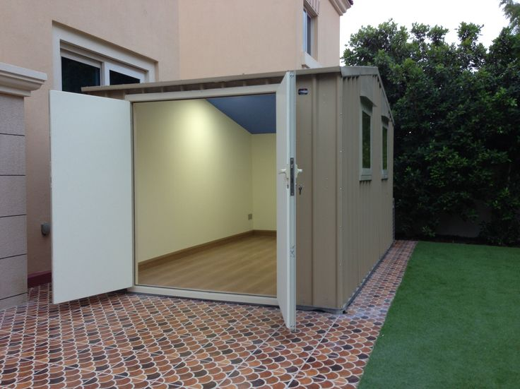 Dependable Steel Garden shed to luxury lined studio...wow
