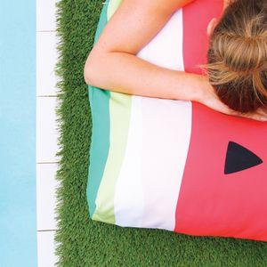 Jennifer + Smith Watermelon Outdoor Cushion www.jenniferandsmith.com