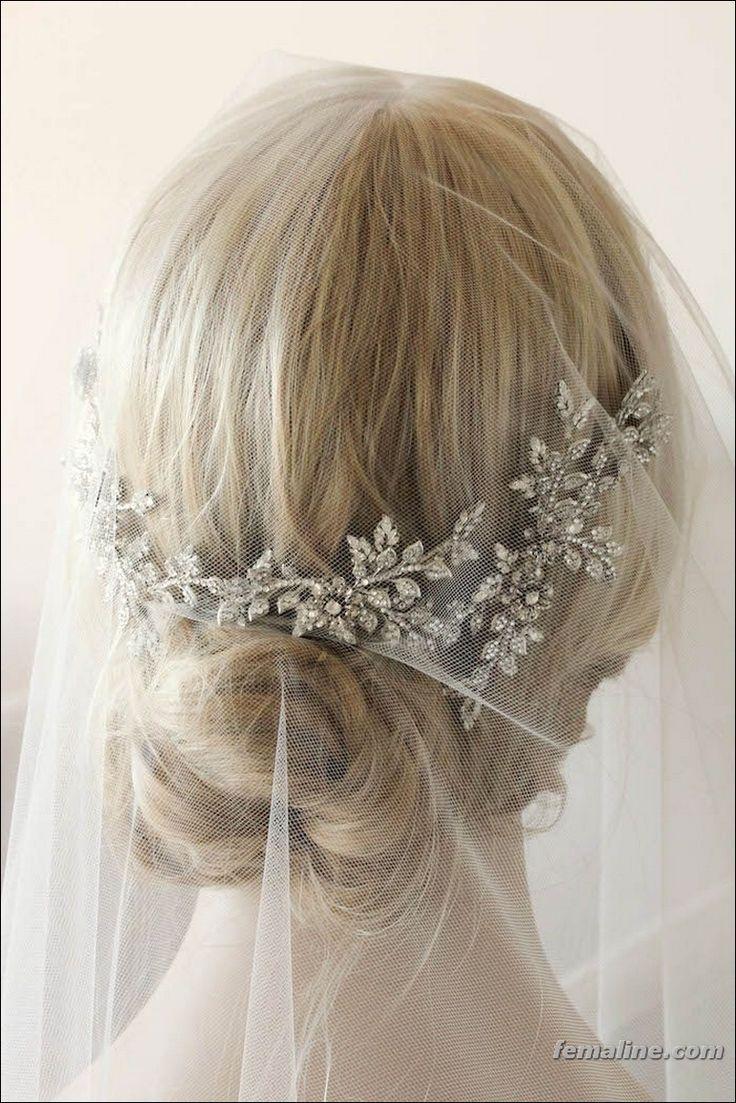 Hair accessories for wedding online india - 150 Best Ideas For Wedding Hair Accessories 2017 With Veil